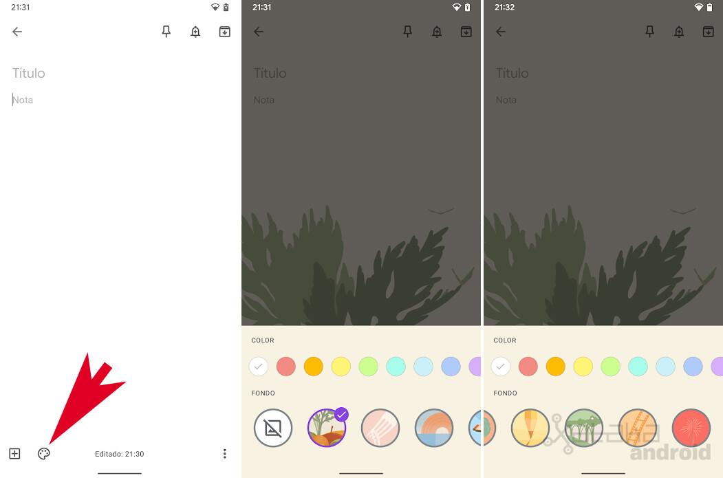Google Keep Add Background