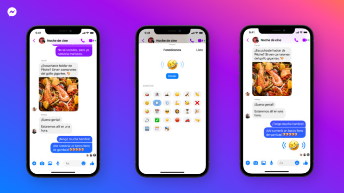 the emojis of facebook messenger now also sound words are.png