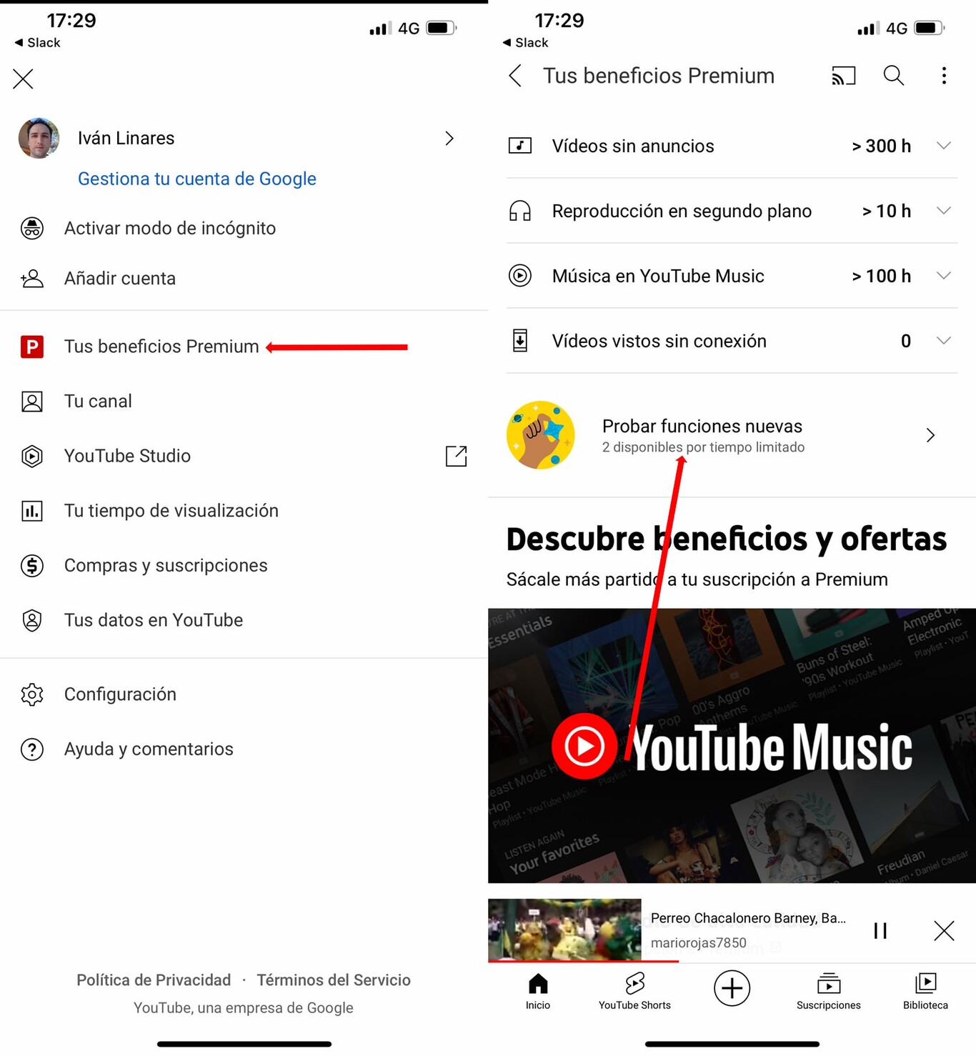 Youtube Experimental Features